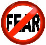 No Fear Sign 3D Rendering