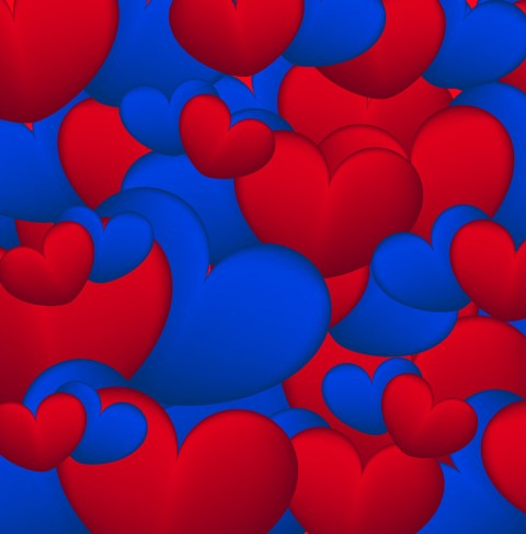 background-of-blue-and-red-hearts-vector-12804061
